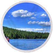 Beautiful Luby Bay On Priest Lake Round Beach Towel
