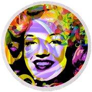 Beautiful Marilyn Monroe Round Beach Towel