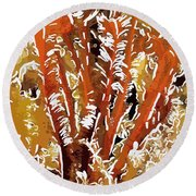 Beautiful Marine Plants 8 Round Beach Towel by Lanjee Chee