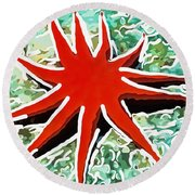 Beautiful Marine Plants 9 Round Beach Towel