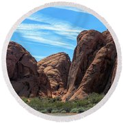 Beautiful Nature Landscape Valley Of Fire  Round Beach Towel