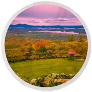 Beautiful Overview Of New Hampshire Round Beach Towel