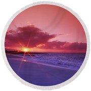 Beautiful Pink Sunset Round Beach Towel