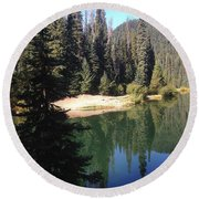 Beautiful Places 2 Round Beach Towel