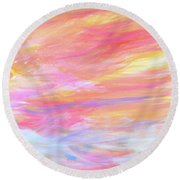 Beautiful Possibilities - Contemporary Art Round Beach Towel