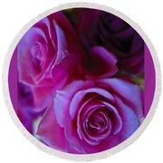 Beautiful Purple Roses 2 Round Beach Towel