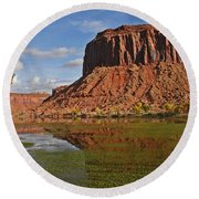Beautiful Red Rock Formations Near Moab Utah Round Beach Towel
