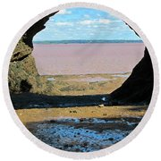 Beautiful Reflection Round Beach Towel
