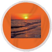 Beautiful Sanibel Sunset Round Beach Towel