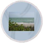 Beautiful Seascape Round Beach Towel