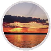Beautiful Sunset Round Beach Towel