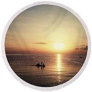 Beautiful Sunset Round Beach Towel