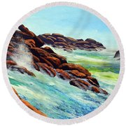 Beautiful Surf Round Beach Towel