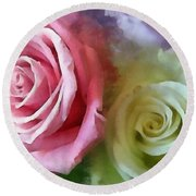 Beautiful Together Round Beach Towel