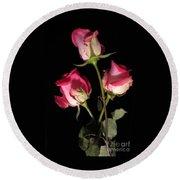 Beautiful Two Tone Roses 3 Round Beach Towel