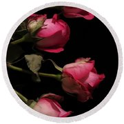 Beautiful Two Tone Roses 4 Round Beach Towel