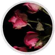 Beautiful Two Tone Roses 6 Round Beach Towel