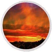 Beautiful Utah Sunset Round Beach Towel
