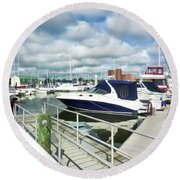 Beautiful View On The Elizabeth 7 Round Beach Towel by Lanjee Chee