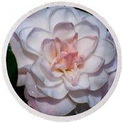 Beautiful White Camellia Round Beach Towel