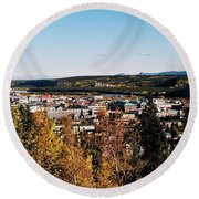 Beautiful Whitehorse ... Round Beach Towel