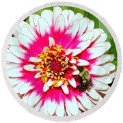 Beauty And The Bee #1 Round Beach Towel