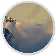 Beauty Belies The Danger. Round Beach Towel