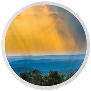 Beauty From The Heavens Round Beach Towel