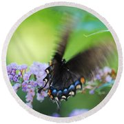 Beauty In Motion Round Beach Towel