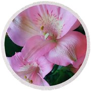 Beauty In Pink Round Beach Towel