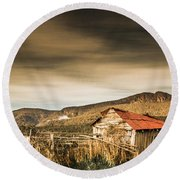 Beauty In Rural Dilapidation Round Beach Towel