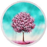 Beauty In The Bloom Round Beach Towel