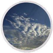 Beauty In The Clouds Round Beach Towel