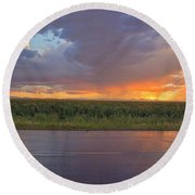 Beauty In The Eye Of The Beholder Round Beach Towel