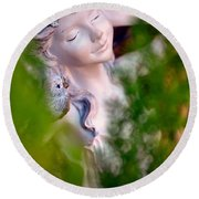 Beauty In The Ferns Round Beach Towel