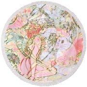 Beauty In The Meadow Round Beach Towel