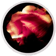 Beauty In The Shadows Round Beach Towel