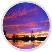 Beauty In The Storm Round Beach Towel