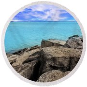 Beauty Is In You Round Beach Towel