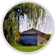 Beauty Of Fort Meigs Round Beach Towel