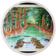 Beauty Of Nature Round Beach Towel
