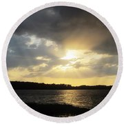 Beauty Of Sunset Round Beach Towel