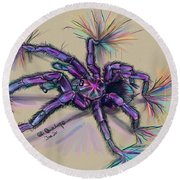 Beauty Of The Crawlies Round Beach Towel
