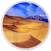 Beauty Of The Dunes Round Beach Towel