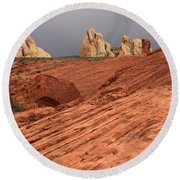 Beauty Of The Sandstone Landscape Round Beach Towel
