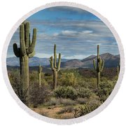 Beauty Of The Sonoran  Round Beach Towel