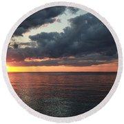 Beauty Of The Sunrise Round Beach Towel