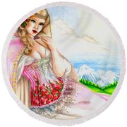 Beauty Of The View Round Beach Towel
