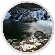 Beauty Of The Washougal River Round Beach Towel