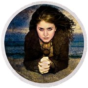 Beauty On The Beach Round Beach Towel